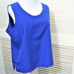 Susan Graver Royal Blue Sleeveless Tank Size L